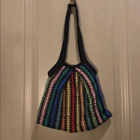UNKNOWN Handbags - Crocheted Multicolored Purse Designer Unknown